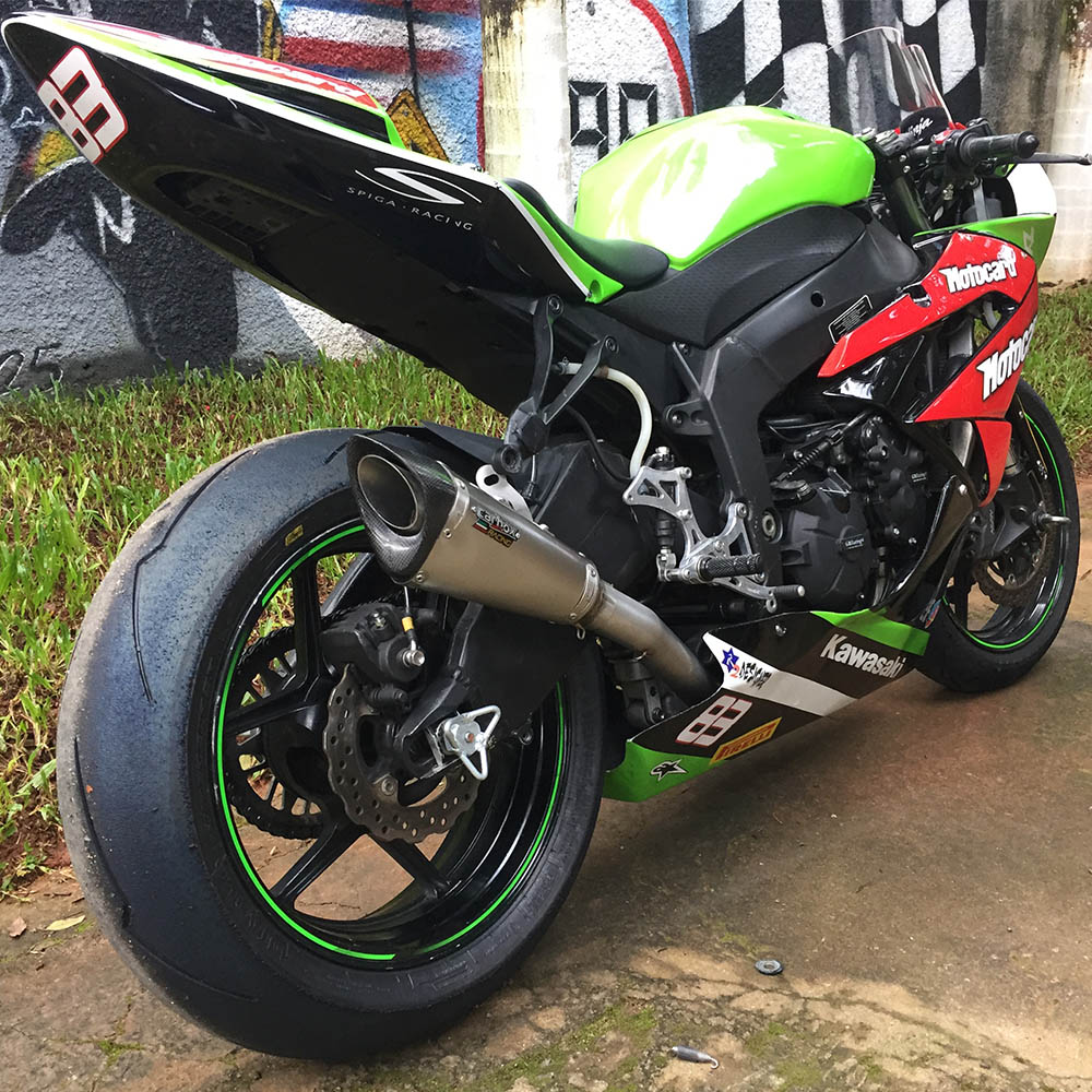 Escapamento Scorpion Gp720 Inox Full Race 4x2x1 - Zx6r