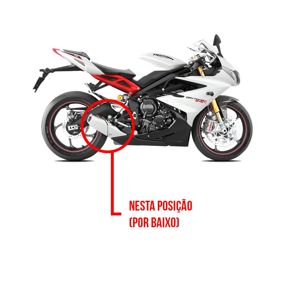Escapamento Shark Gp920 Full 3x1 Inox - Daytona 675r