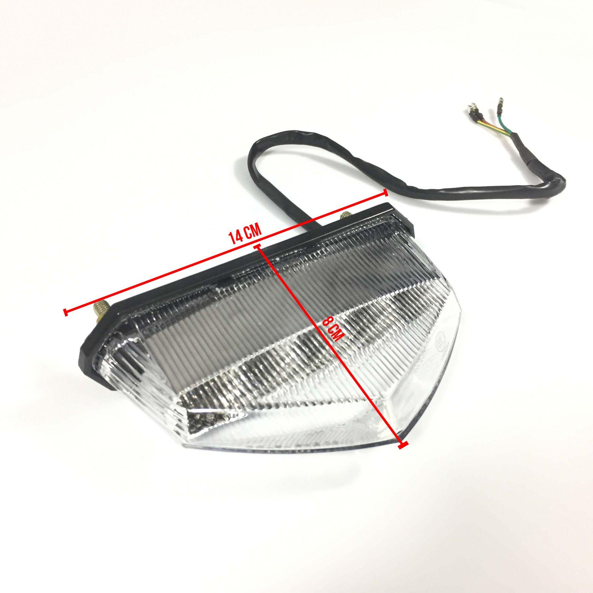 Lanterna 10 Leds + Luz De Freio 12v 5w Universal Para Motos