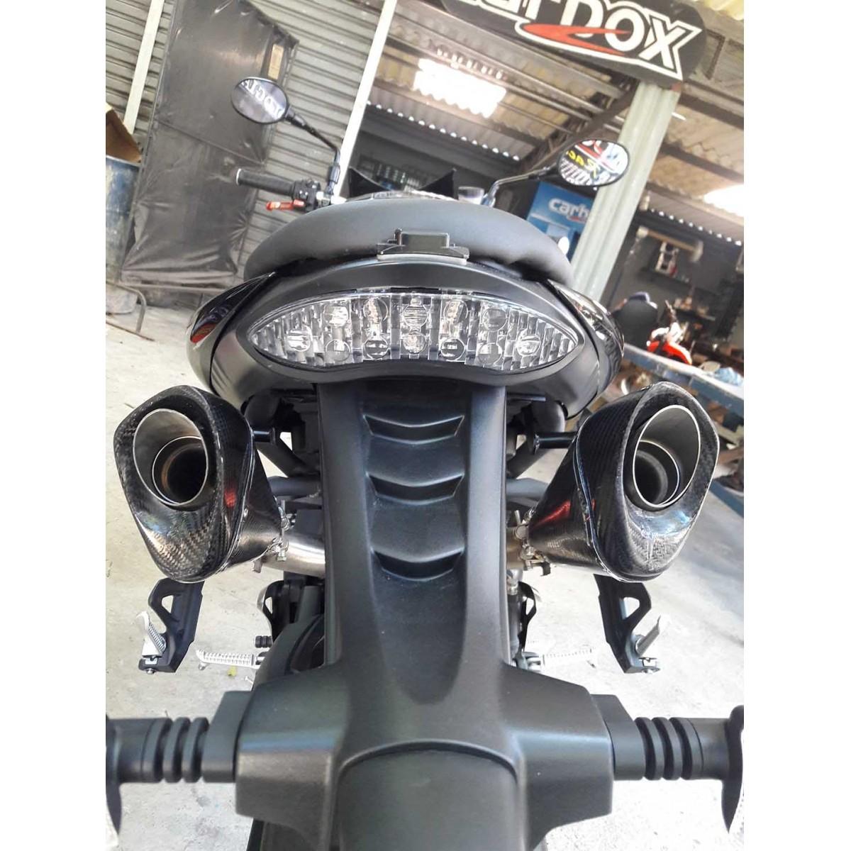 Ponteira Dupla Esportiva Scorpion GP 720 Inox  Triumph Speed Triple 1050