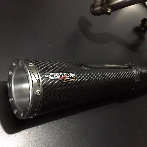 Ponteira Dupla Evolution Carbon + Capa em Fibra de Carbono - V-Rod Muscle