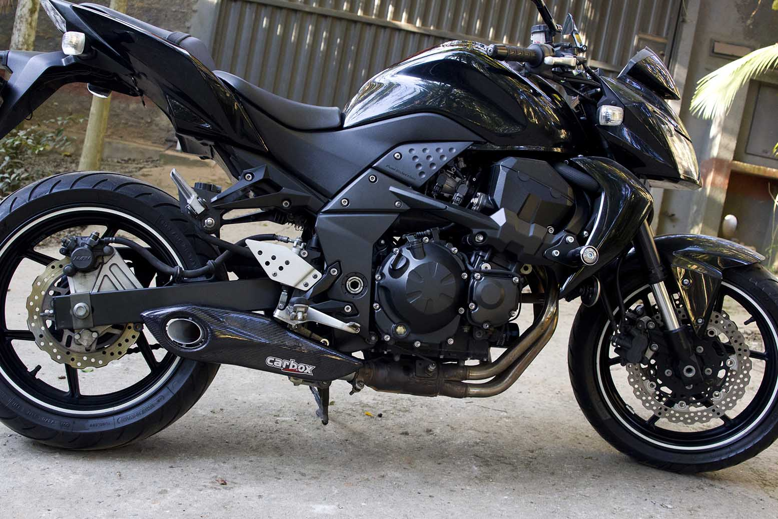 Ponteira Escapamento No Muffler Carbon - Kawasaki Z750