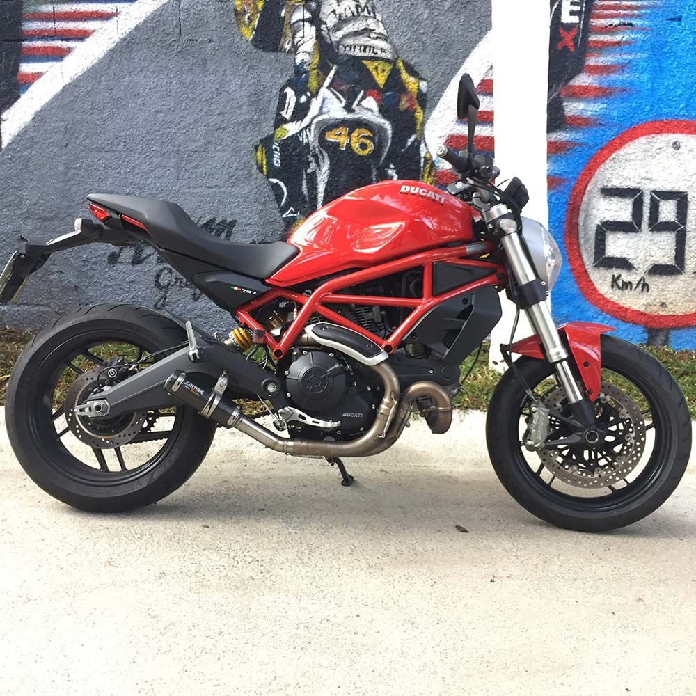 Ponteira Escape Gp Tech Carbono - Ducati Monster 797