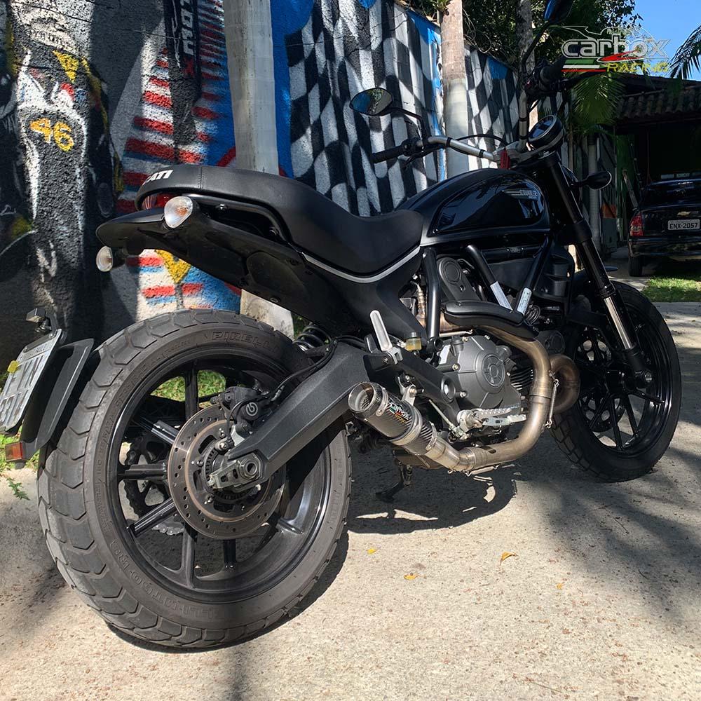 Ponteira Escape Gp Tech Carbono - Ducati Scrumbler