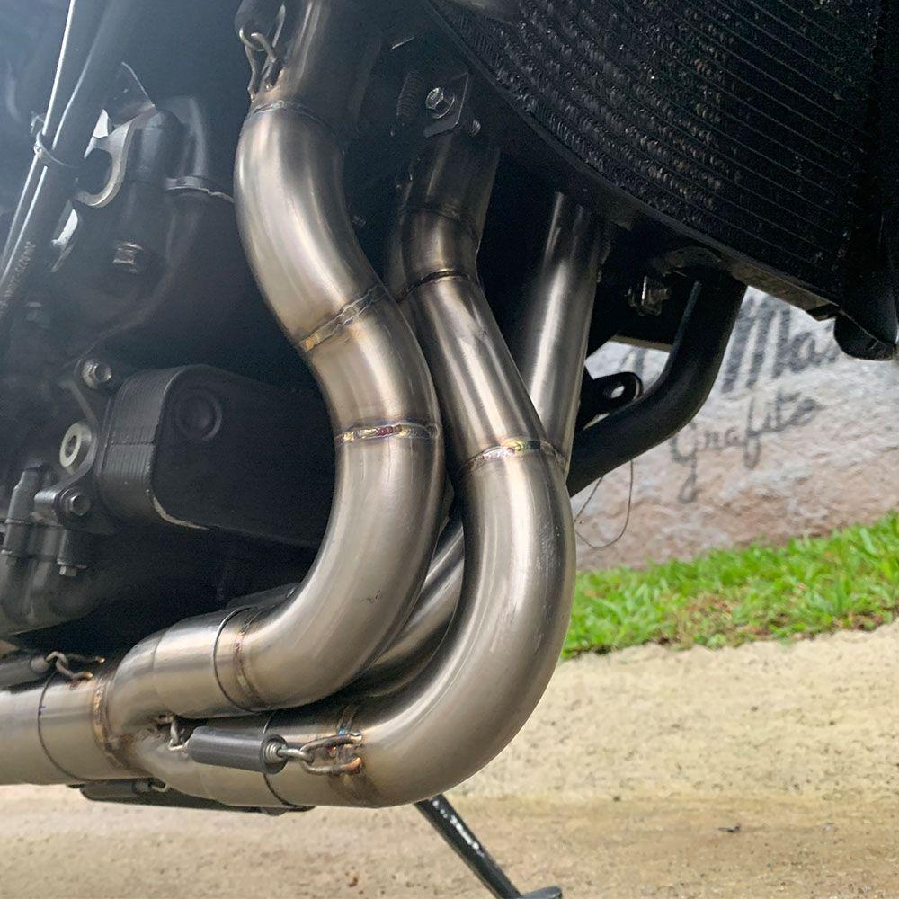 Ponteira Escape Gp Tech Carbono - Triumph Daytona 675r