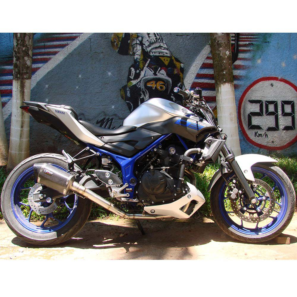 Ponteira Escape H625 Carbon Full 2x1 - Yamaha Mt-03