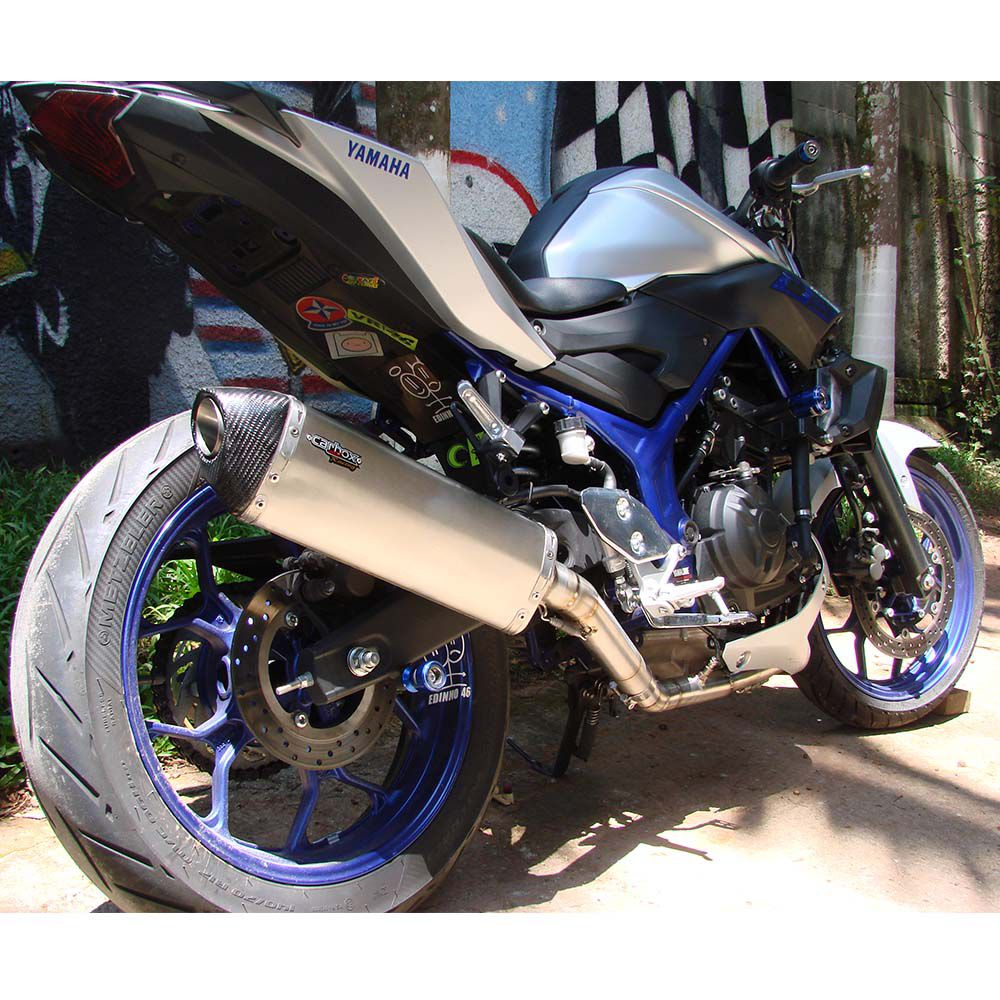 Ponteira Escape H635 Inox Full 2x1 - Yamaha Mt-03