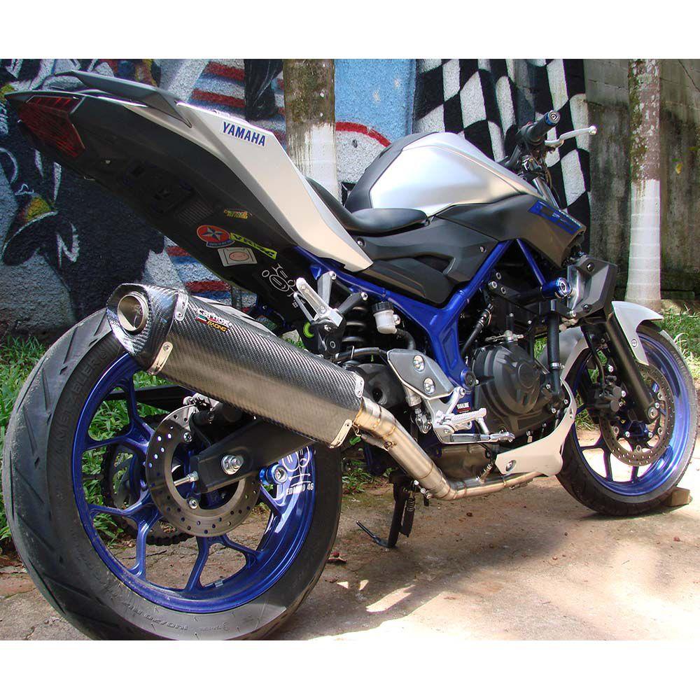 Ponteira Escape H735 Carbon Full 2x1 - Yamaha Mt-03