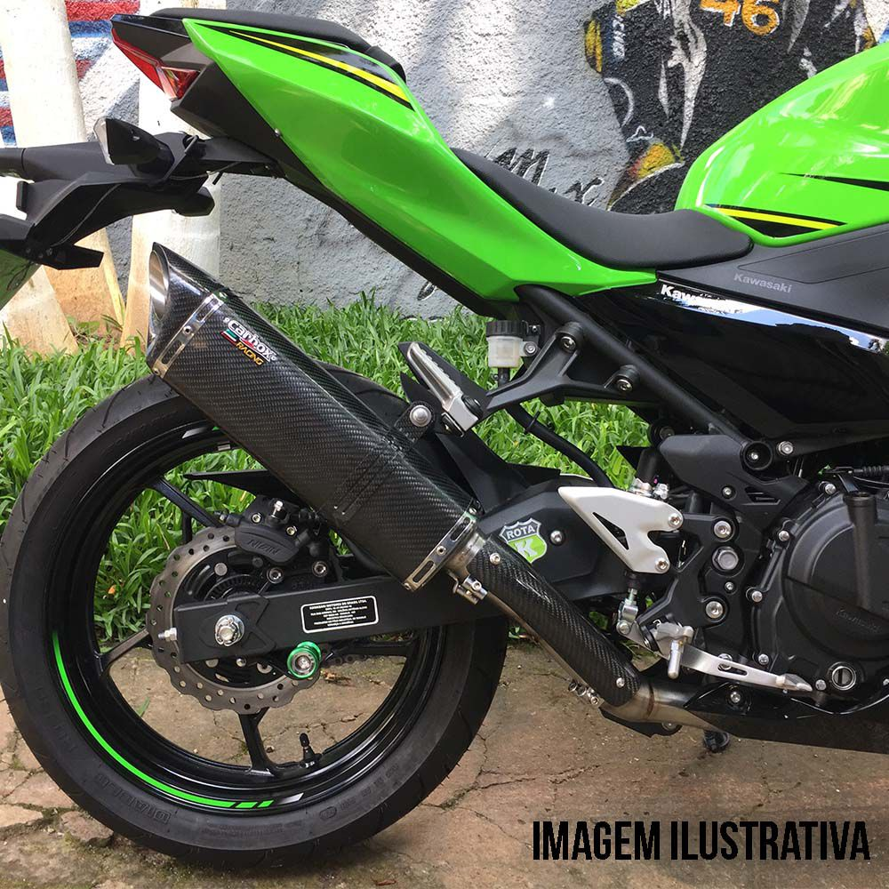 Ponteira Escape Scorpion S720 Carbon Full 2x1 - Ninja 400