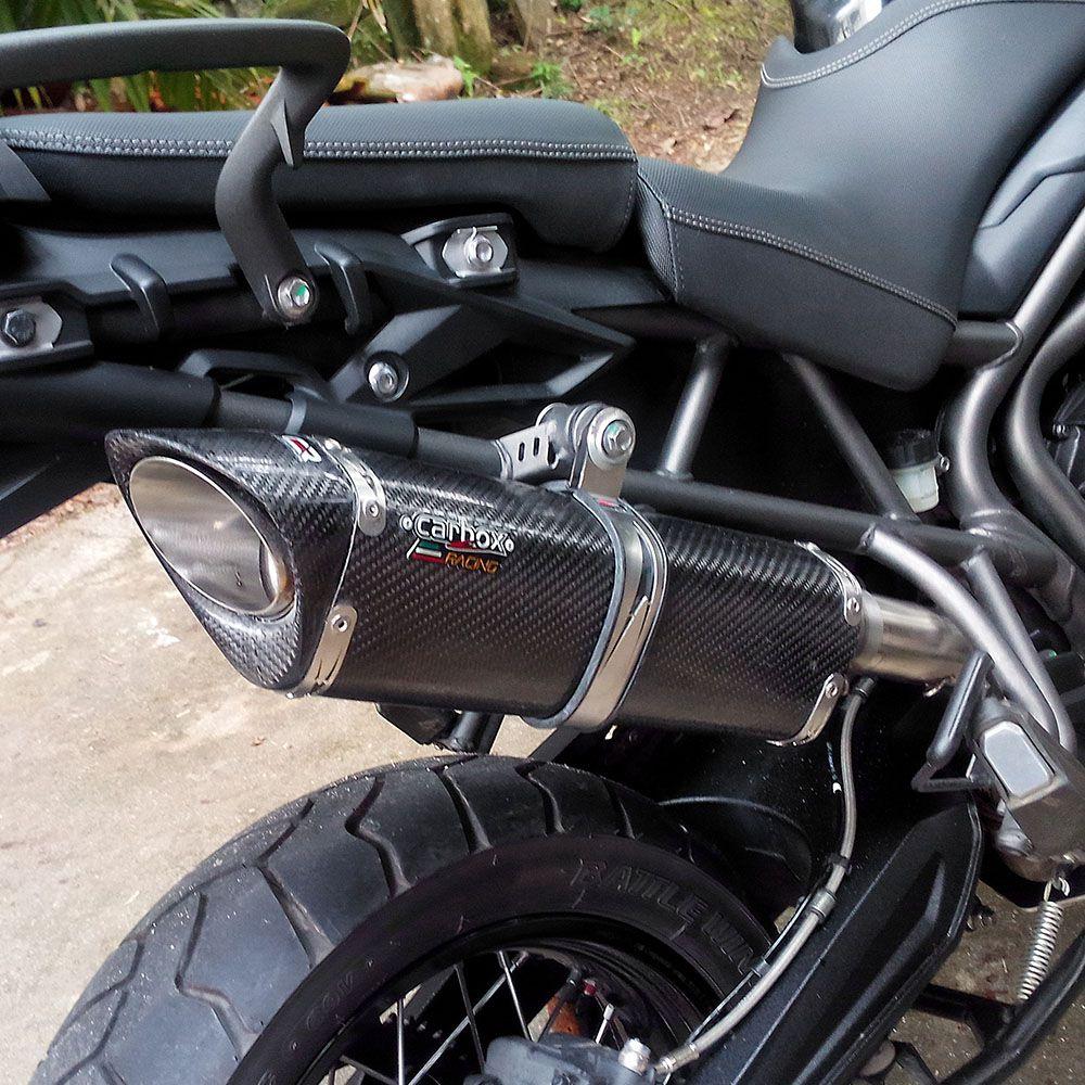 Ponteira Escape Scorpion S735 Carbon - Tiger 800