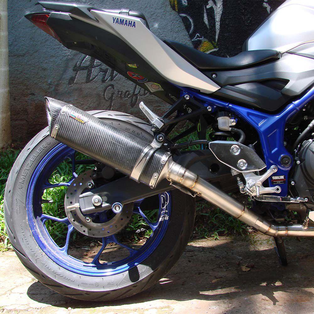 Ponteira Escape Scorpion S73 Carbono Full 2x1 - Yamaha Mt-03
