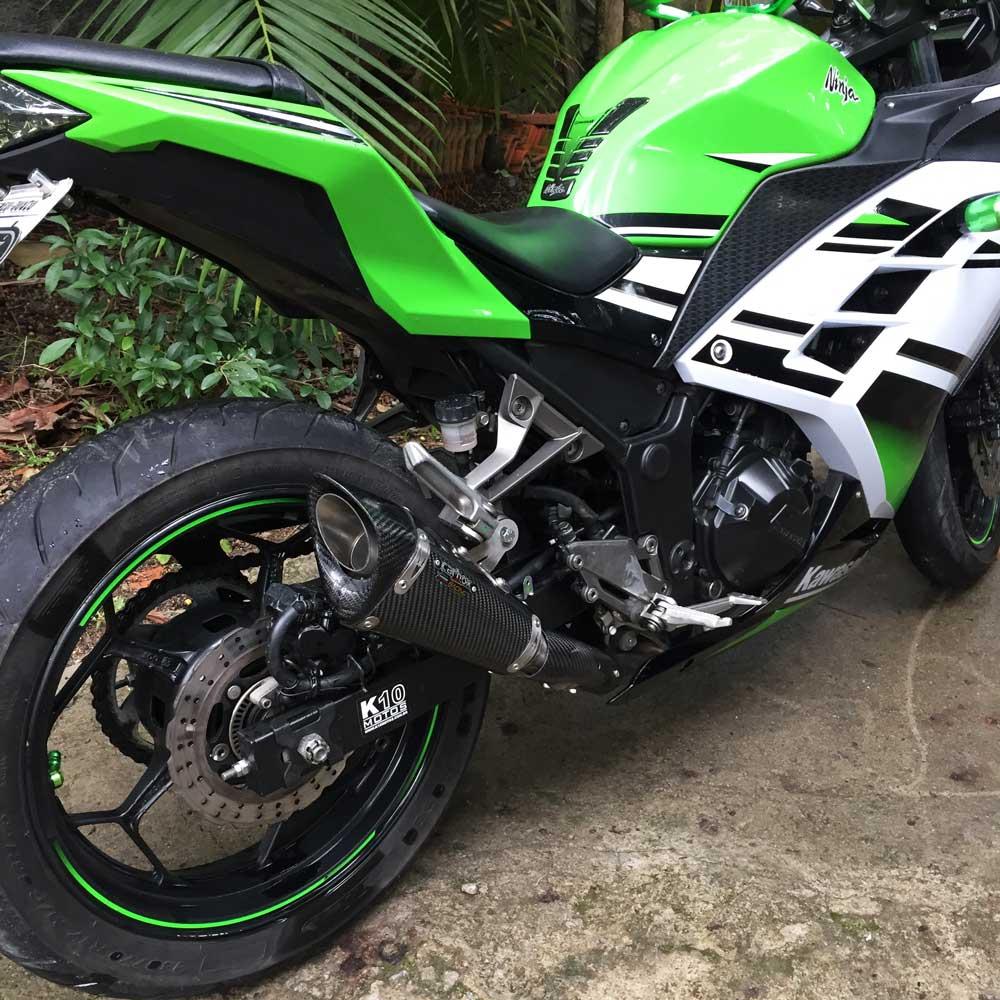 Ponteira Scorpion GP720 Carbon - Ninja 300 / Z300