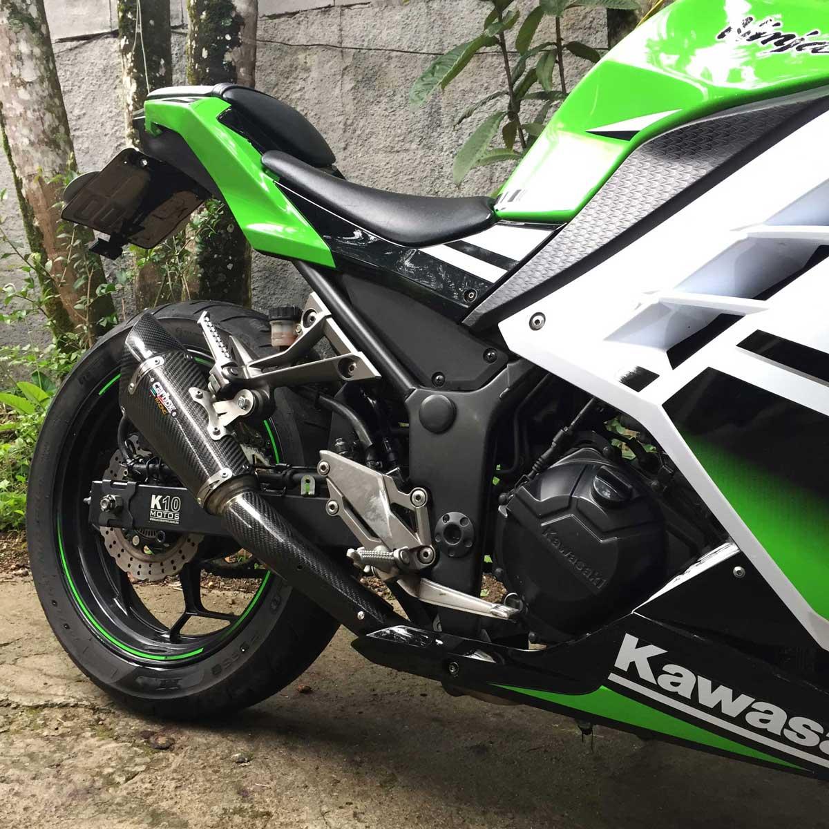 Ponteira Esportiva Scorpion Gp 720 Carbon Ninja 300 Todas
