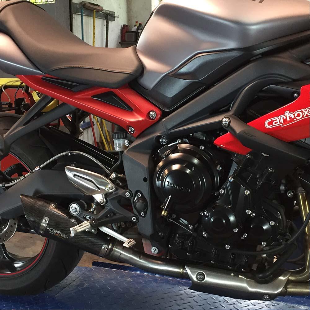 Ponteira Esportiva Scorpion GP 720 Inox  Triumph Street Triple 675 R