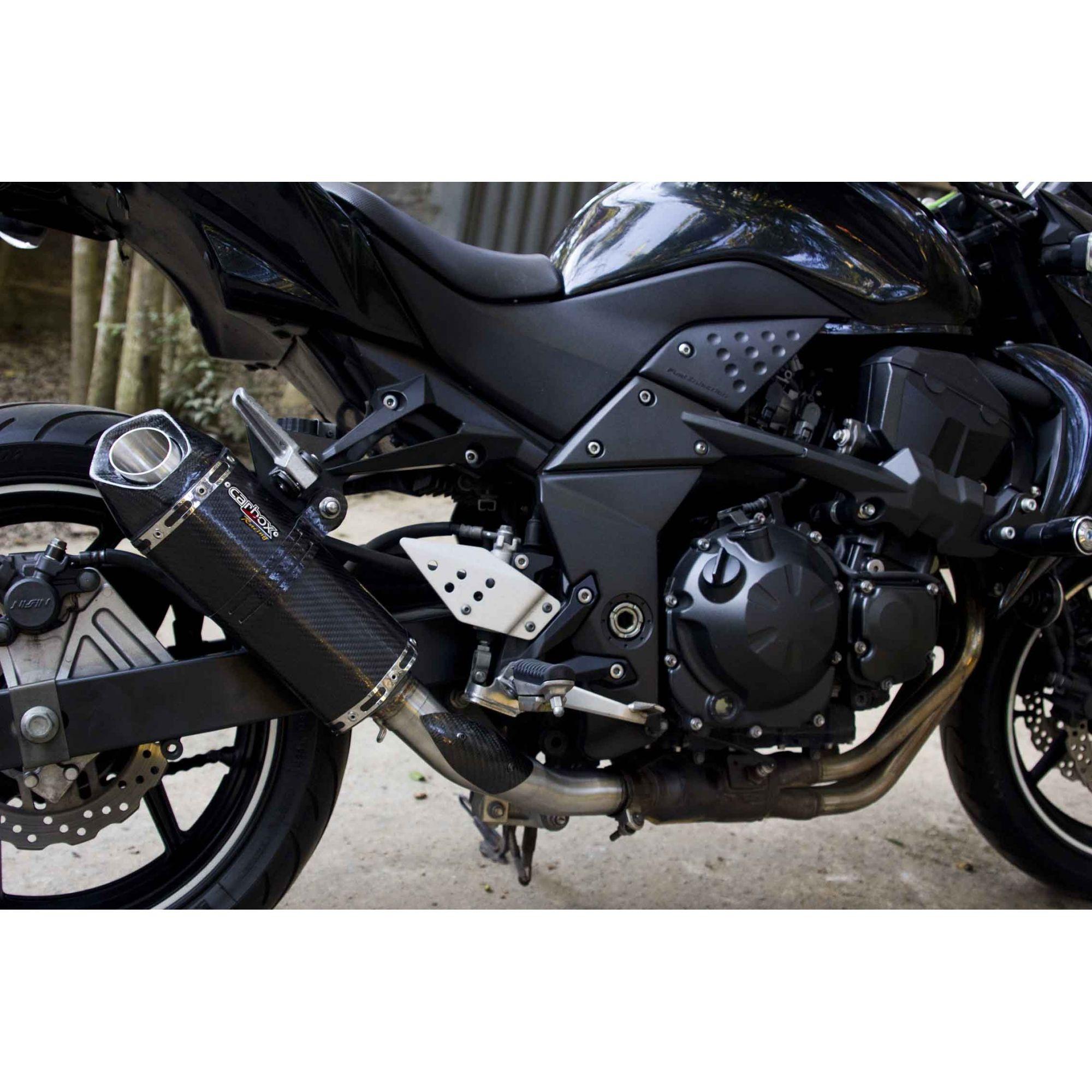 Ponteira Esportiva Shark Carbon p/ Kawasaki Z750