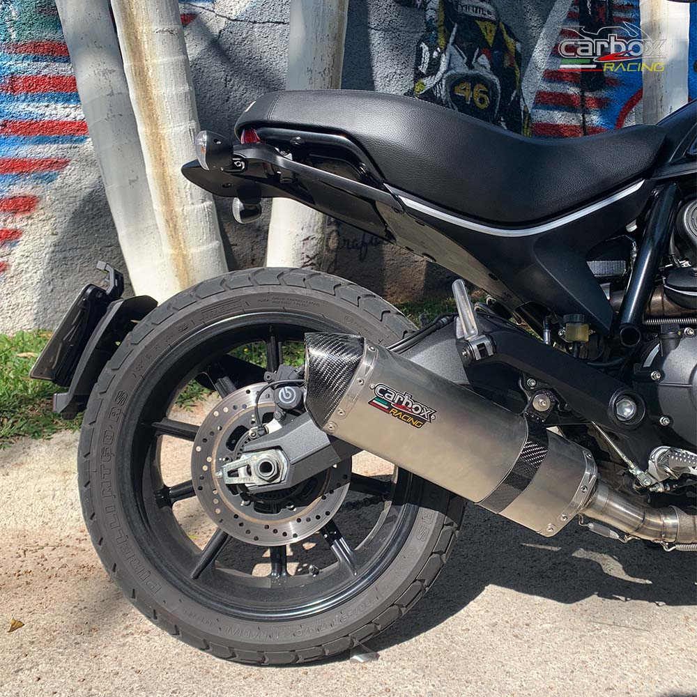 Ponteira H635 Inox - Ducati Scrumbler