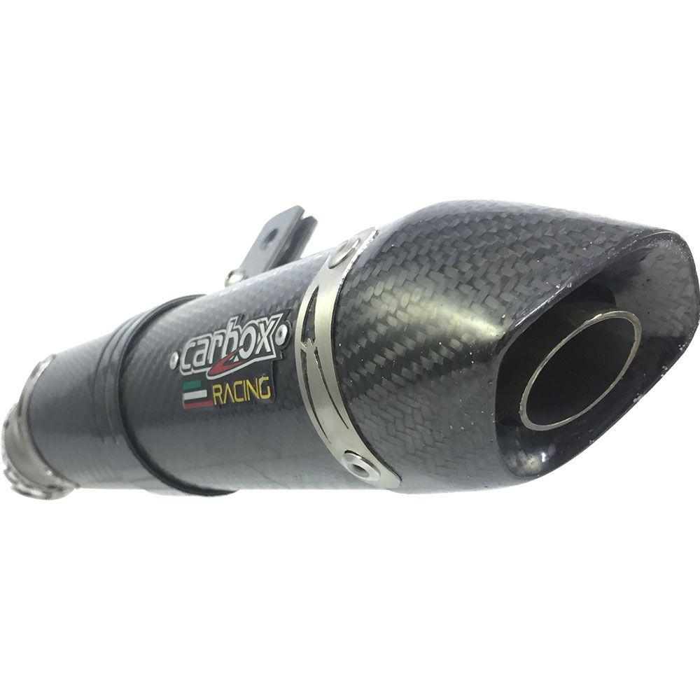 Ponteira P/ Yamaha Dt 200r 2 Tempos Em Fibra De Carbono