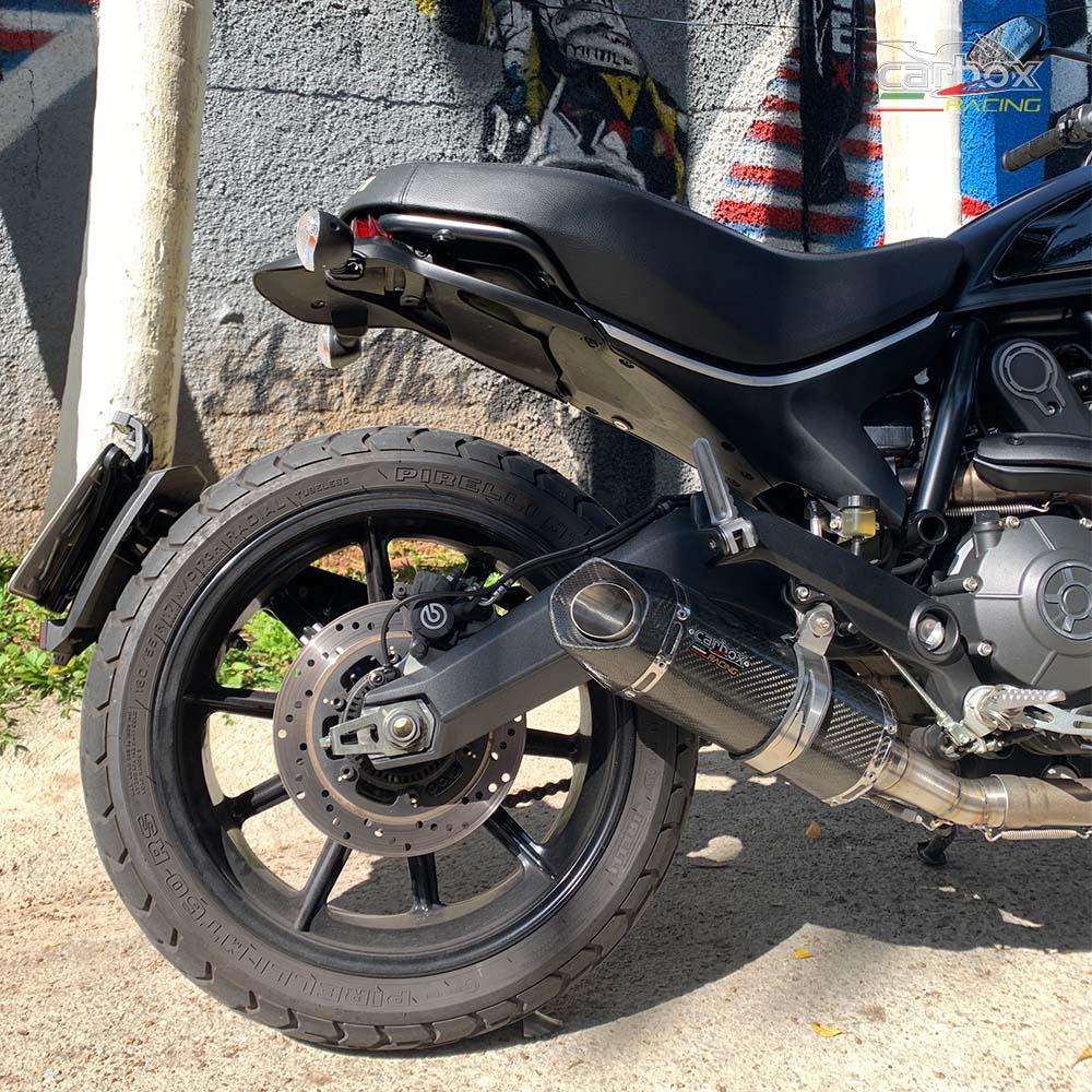 Ponteira Shark S925 Carbono - Ducati Scrumbler