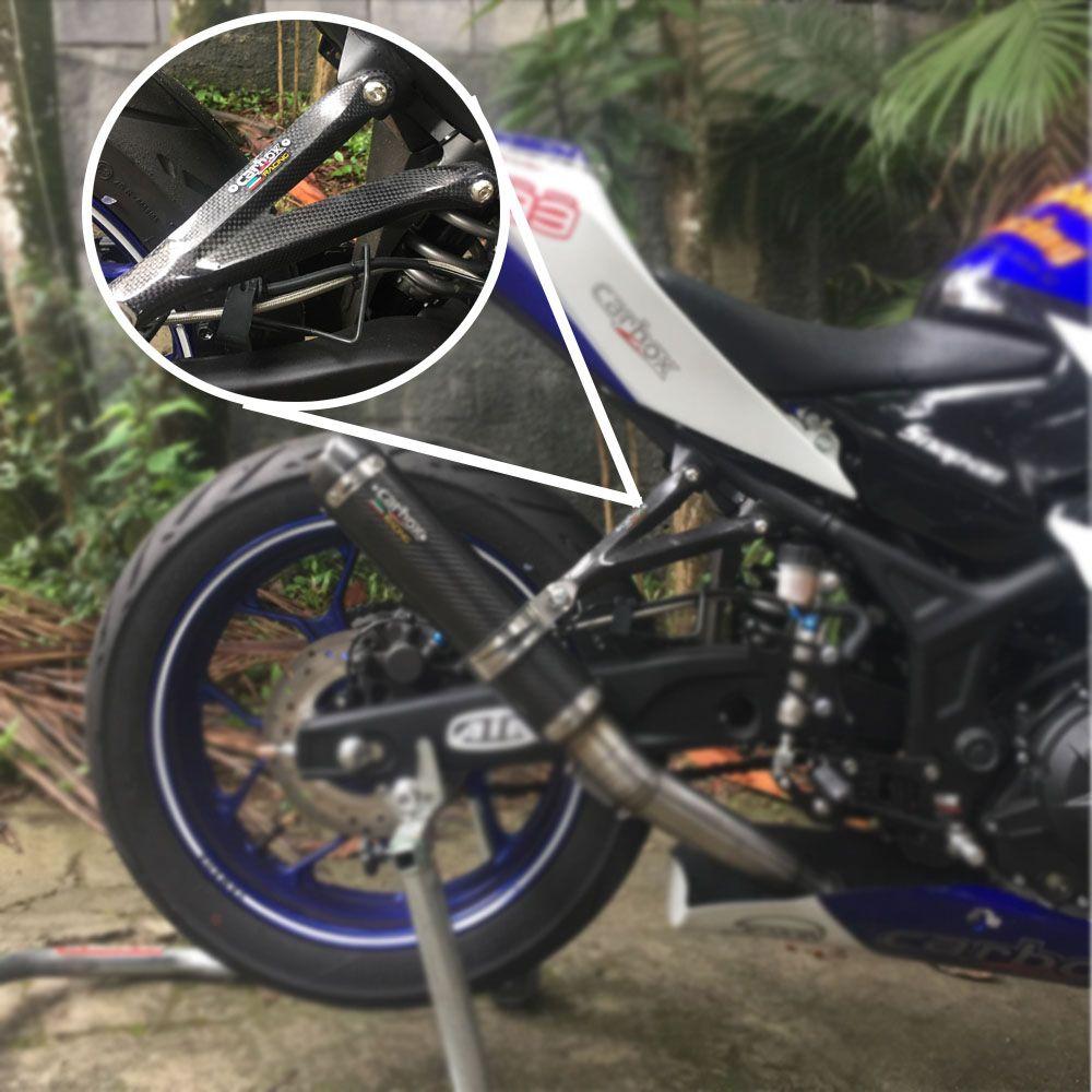 Suporte P/ Ponteira (bacalhau) Fibra De Carbono - Yamaha R3