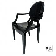 Cadeira  Preta Policarbonato