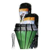Kit Tela Jardim Verde 0,65 + 8 postes + arame para amarrar