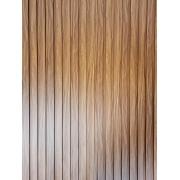 Painel Ripado Ecológico RENO Mogno - Novidade placa com 0,59m²