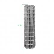 Tela Galvanizada Soldada - 1,20 x 25 m - Malha 5x10 cm