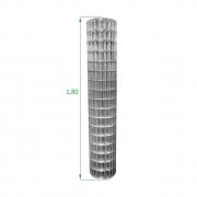 Tela Galvanizada Soldada - 1,80 x 25 m - Malha 5x10 cm