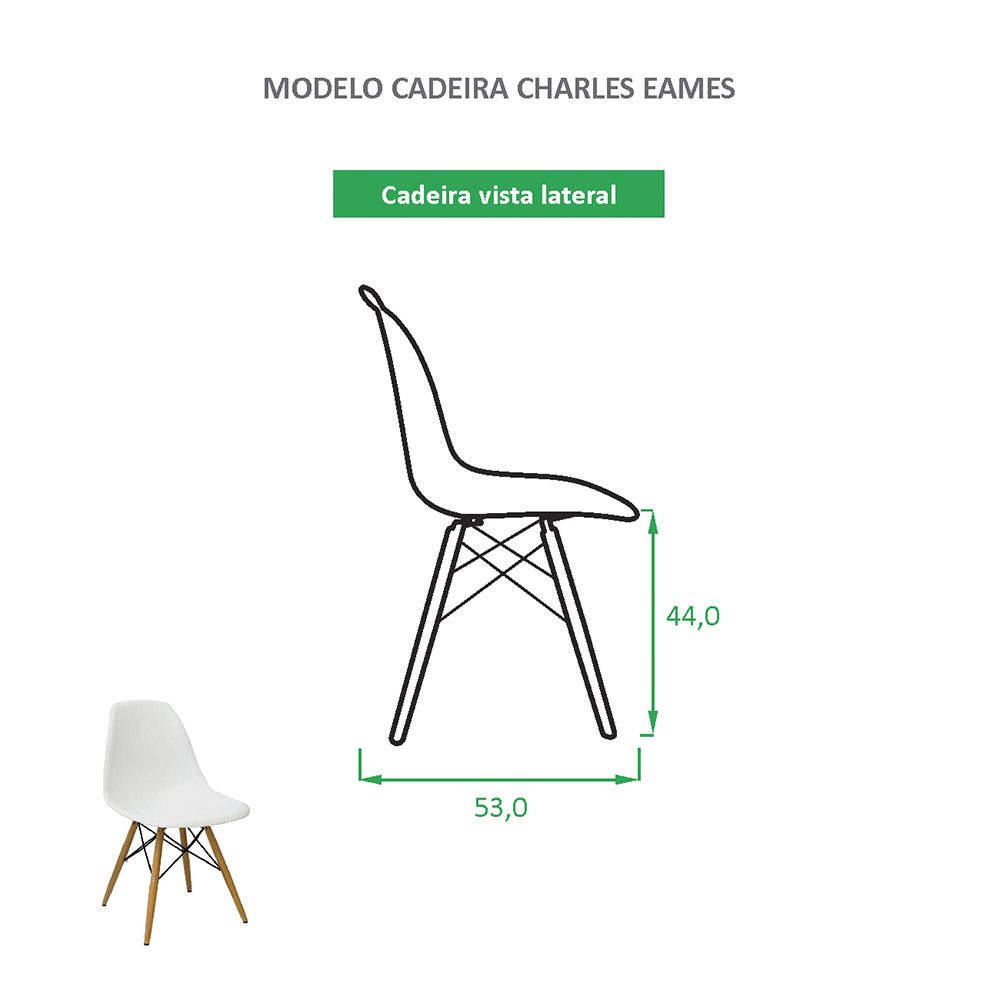 Cadeira Charles Eames Eiffel Branca