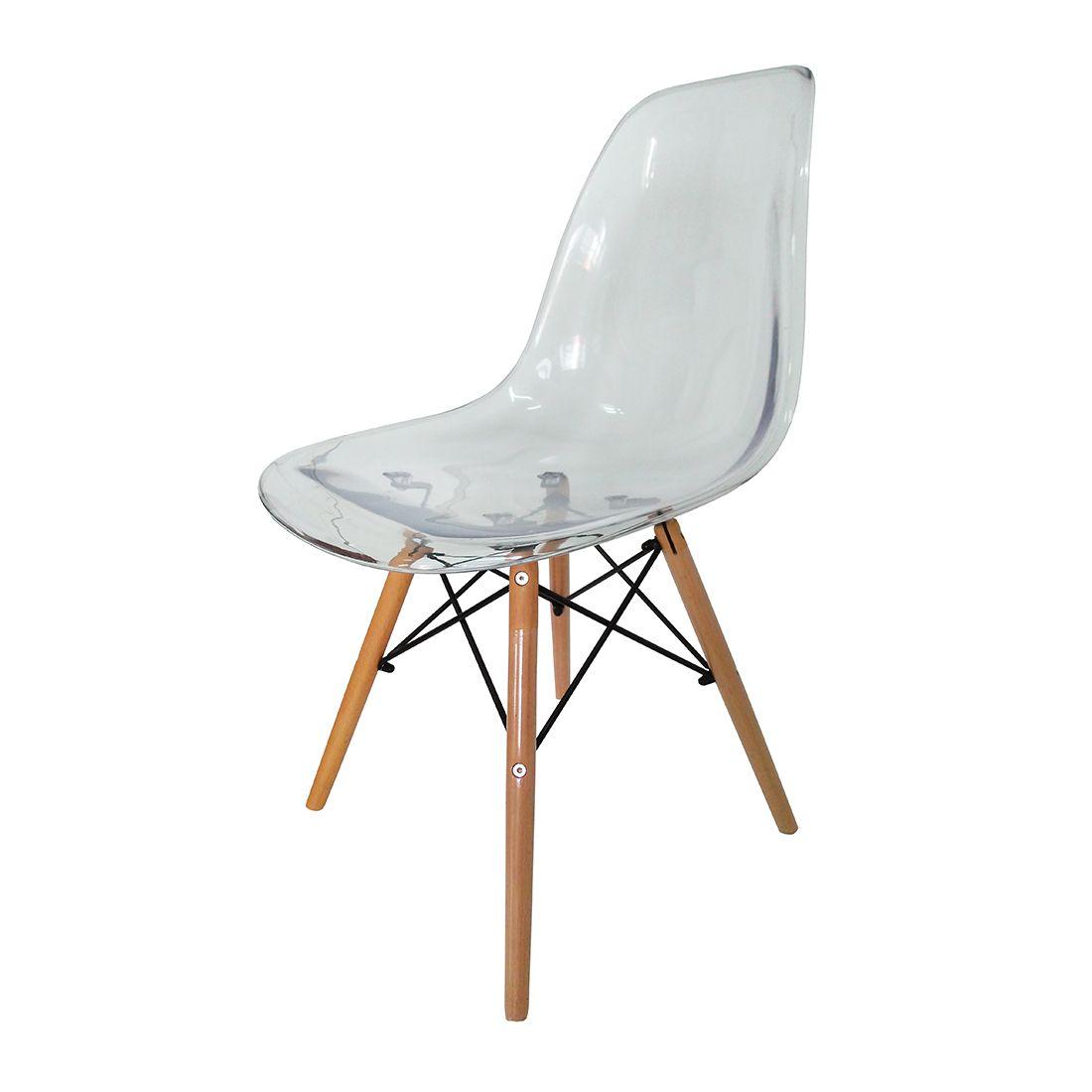 Cadeira Charles Eames Eiffel Transparente