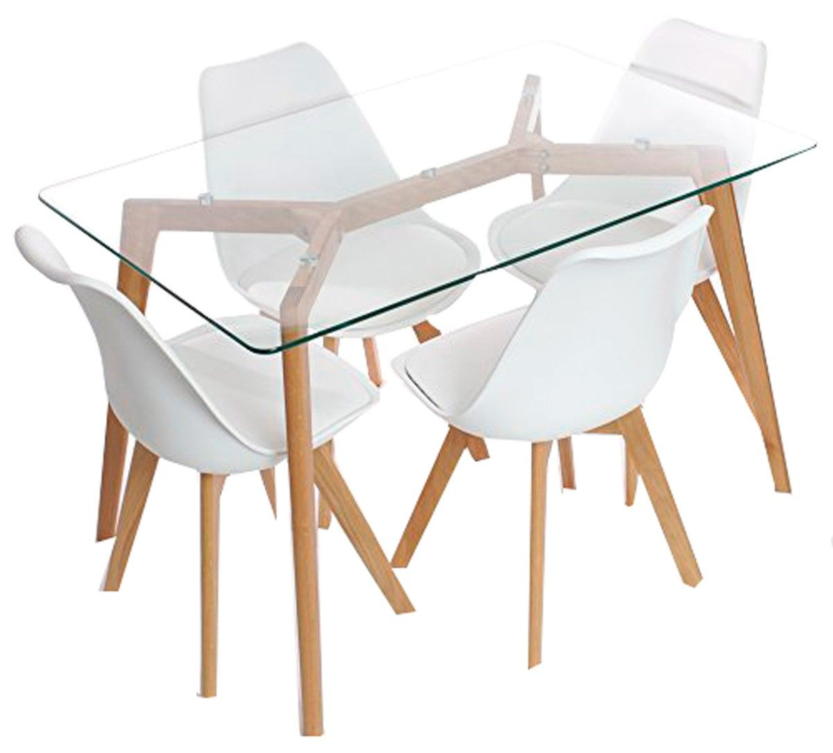 Cadeira Charles Eames Wood Leda Branca