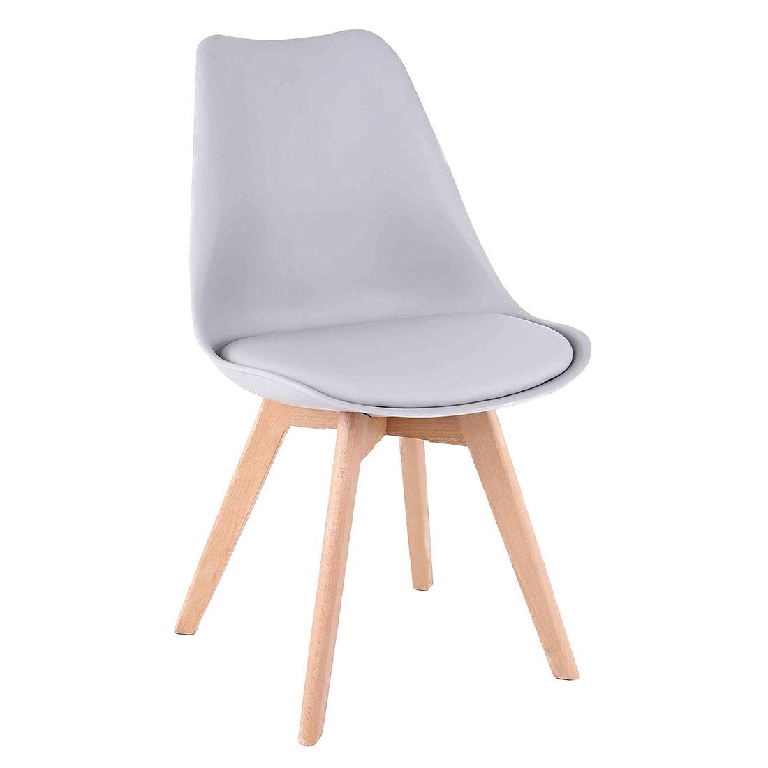 Cadeira Charles Eames Wood Leda Cinza