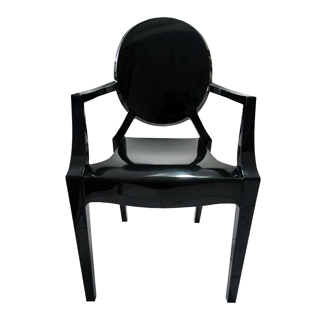 Cadeira Louis Ghost Preta Policarbonato