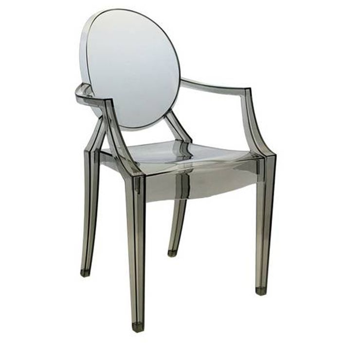 Cadeira Louis Ghost Fumê Policarbonato