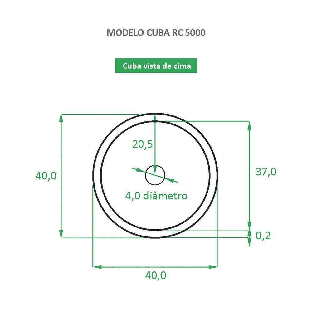 Cuba de Apoio Cerâmica Reno RC 5000