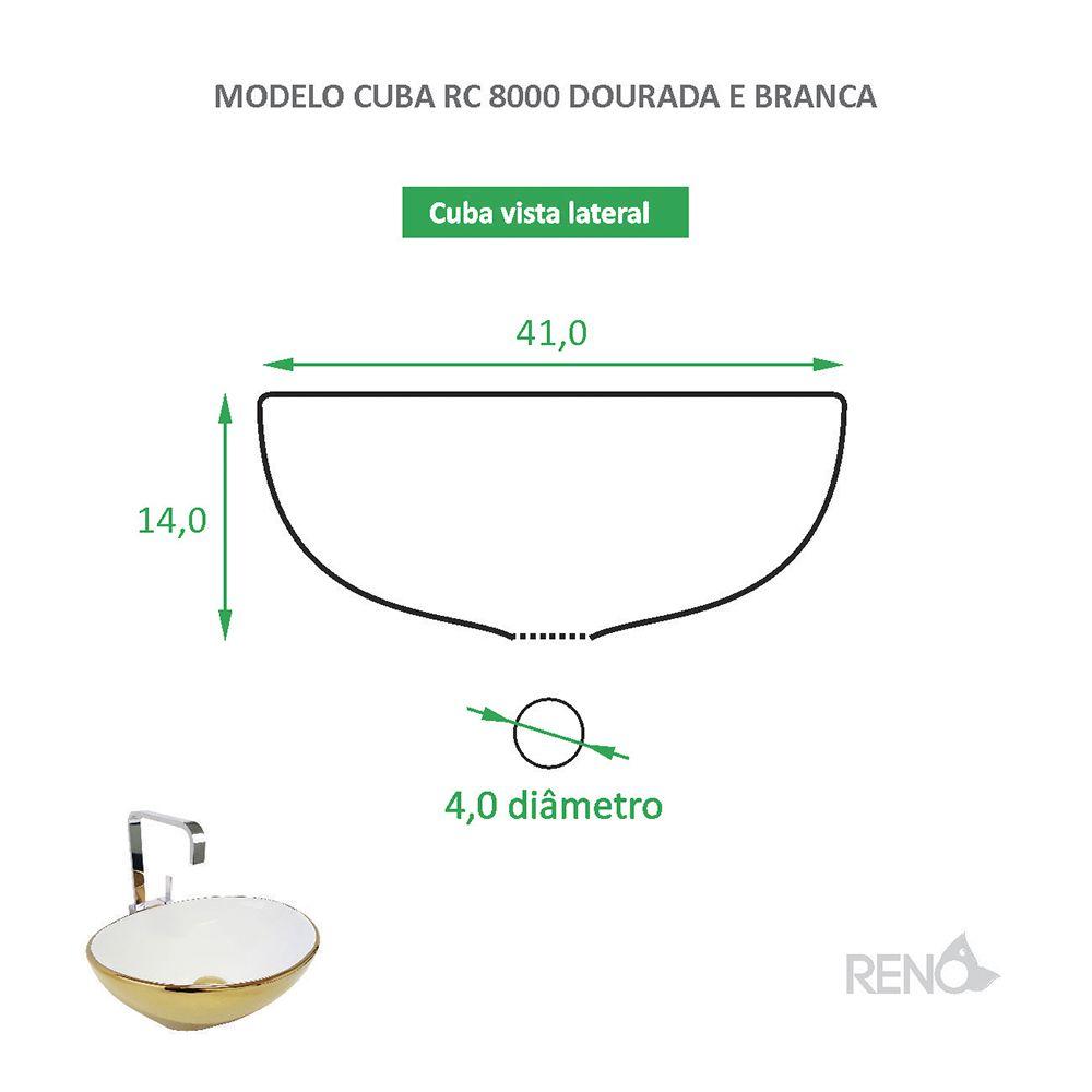 Cuba de Apoio Cerâmica Reno RC 8000