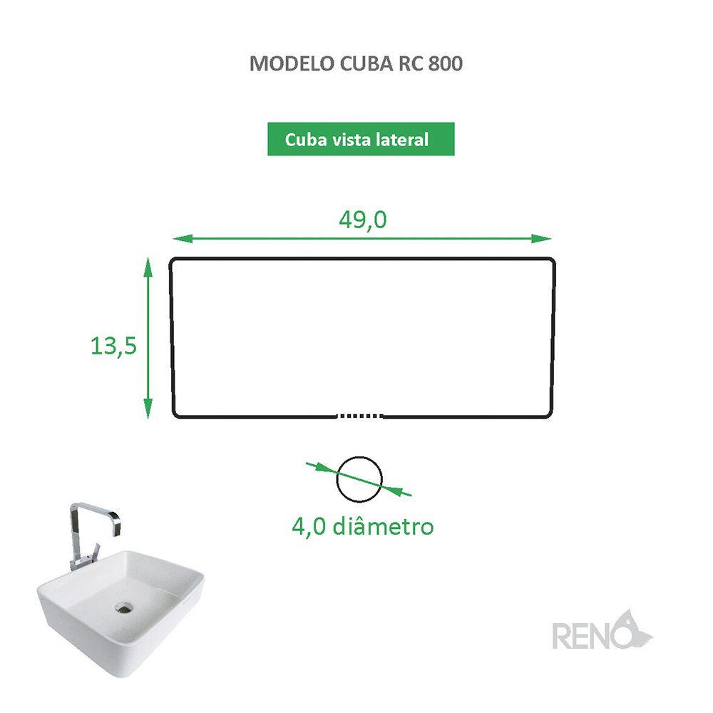 Cuba de Apoio Cerâmica Reno RC 800