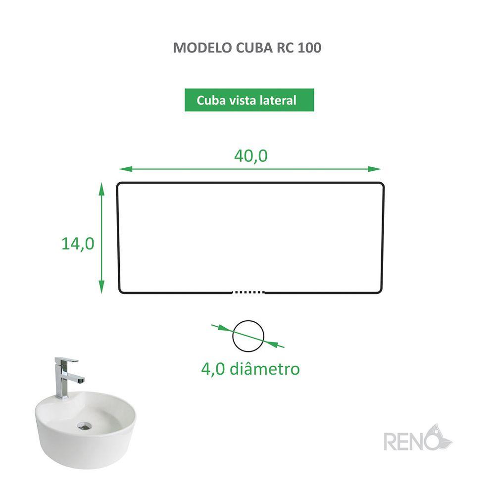 Cuba de Apoio Cerâmica Reno RC 100