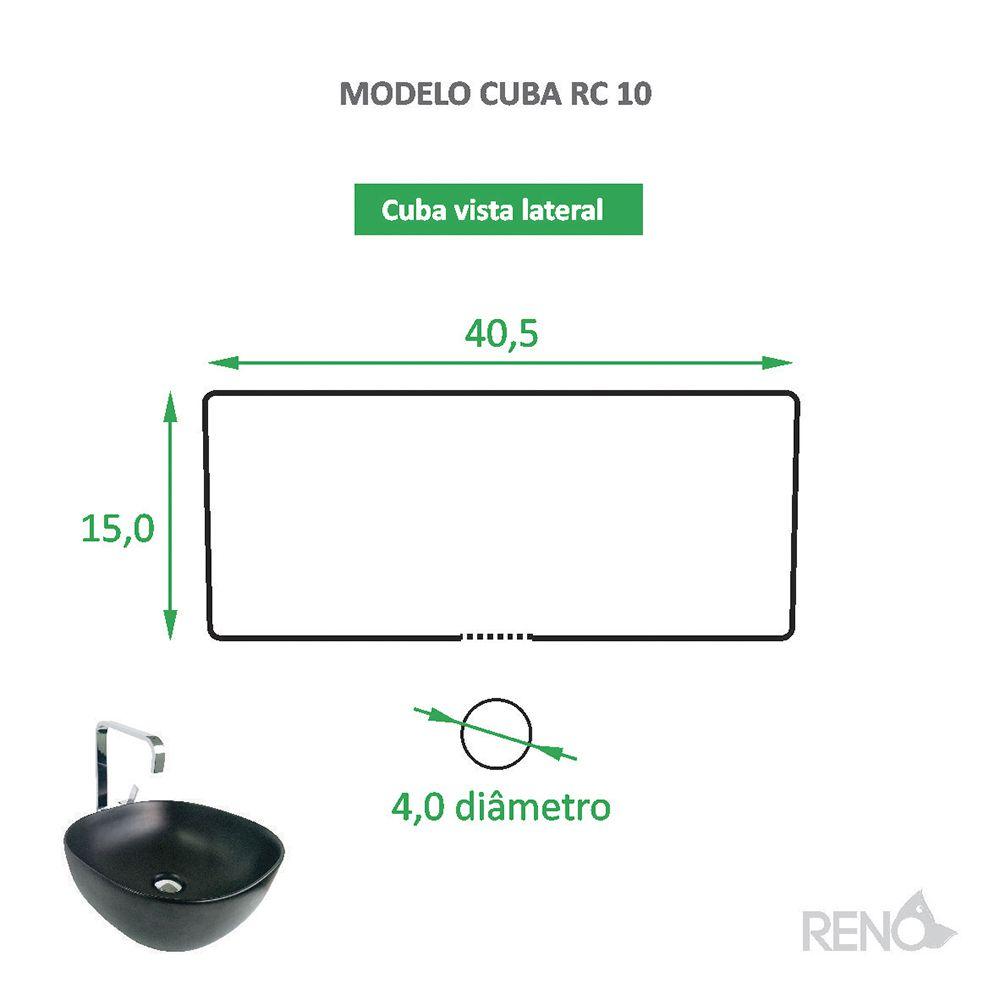 Cuba de Apoio Cerâmica Reno RC 10