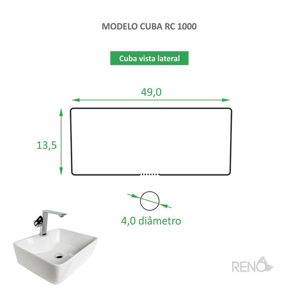 Cuba RC 1000 + Torneira RT 30 + Válvula Click
