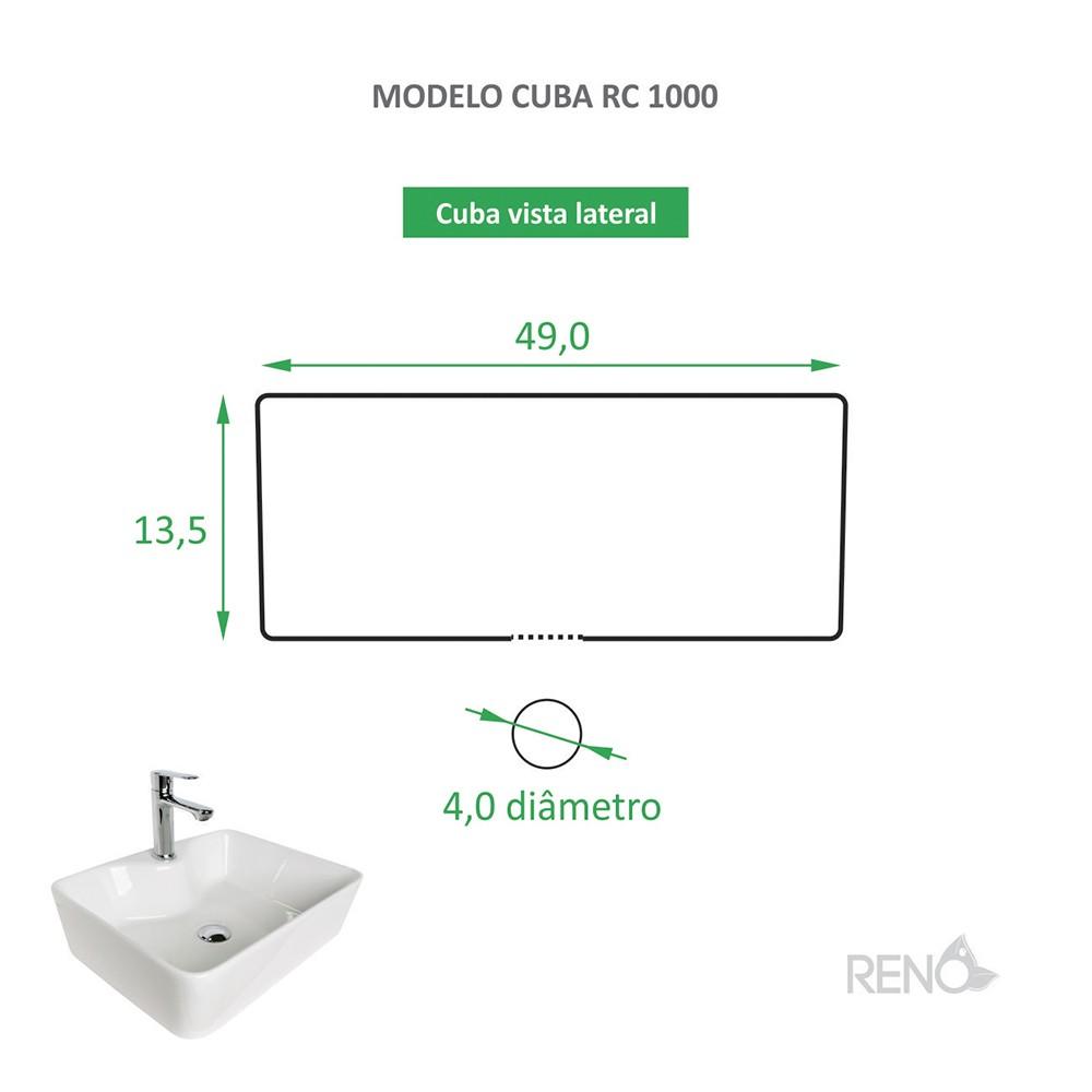 Cuba RC 1000 + Torneira RT 40 + Válvula Click