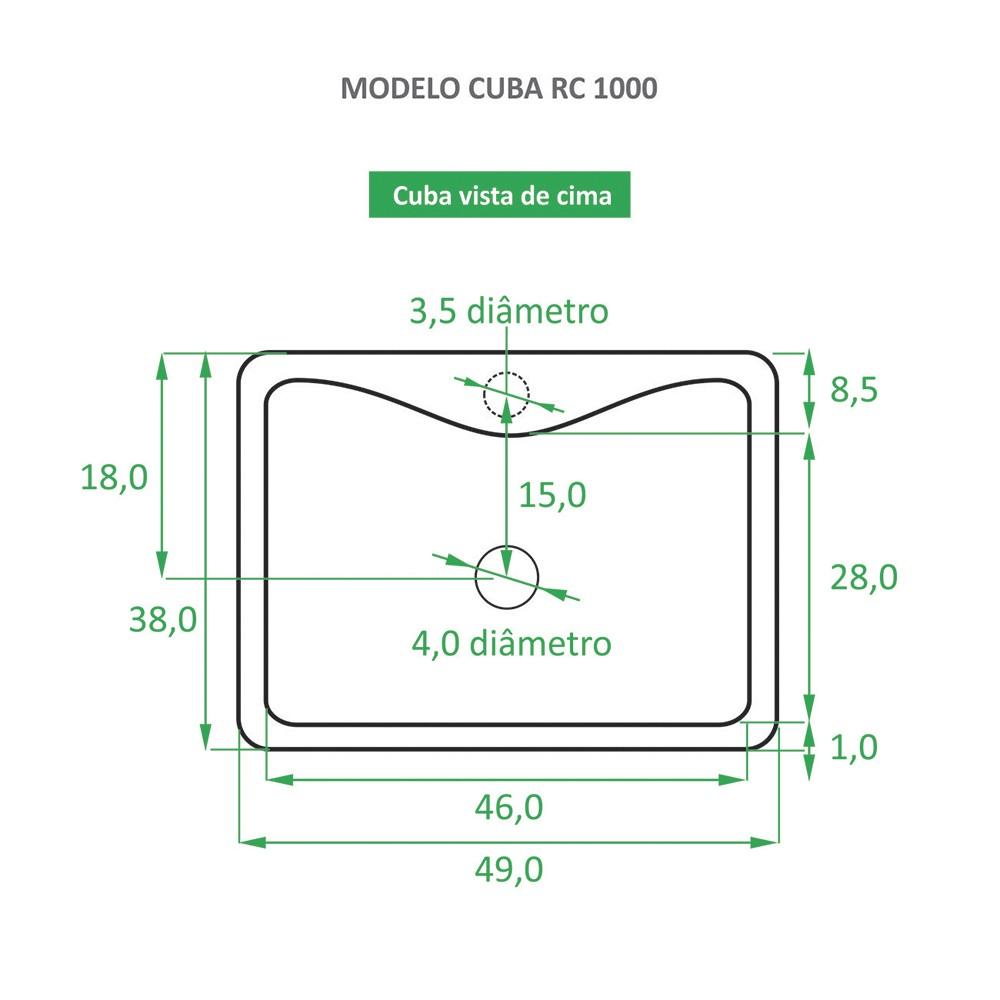 Cuba RC 1000 + Torneira RT 50 + Válvula Click