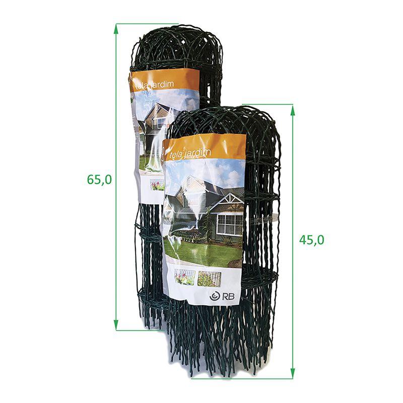 Kit Tela Jardim Verde 0,45 + 8 postes + arame para amarrar