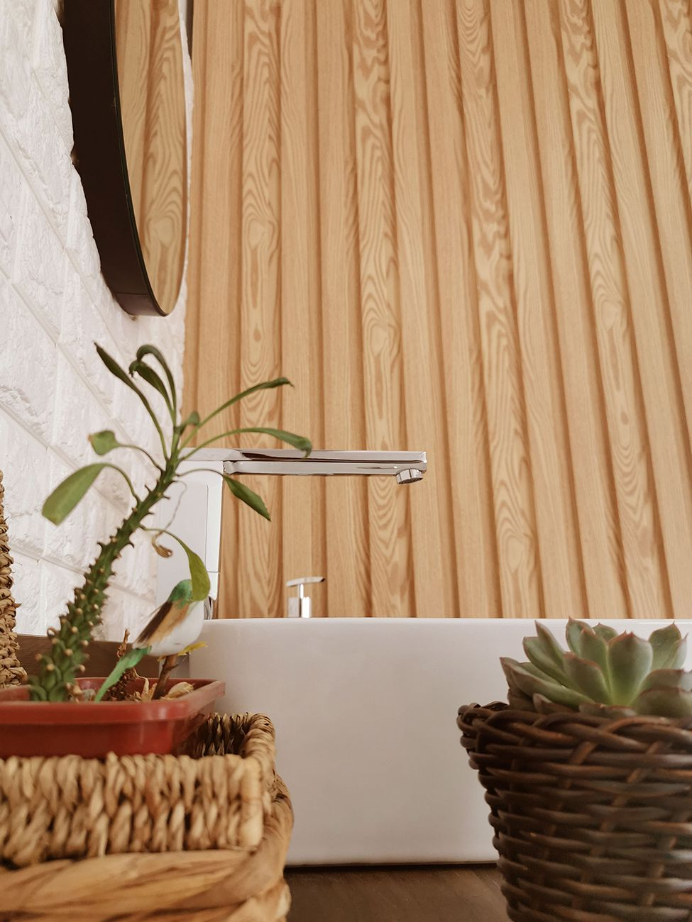 Painel Ripado Ecológico RENO Bambu - Novidade placa com 0,59m²
