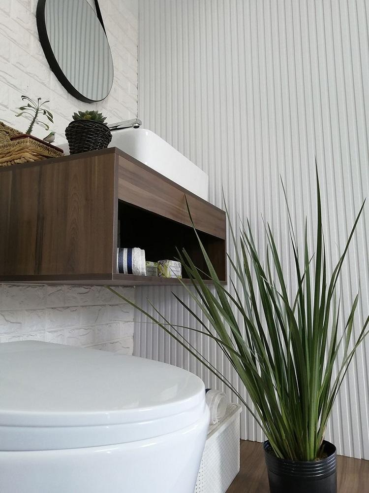 Painel Ripado Ecológico RENO Bianco - Novidade placa com 0,46m²