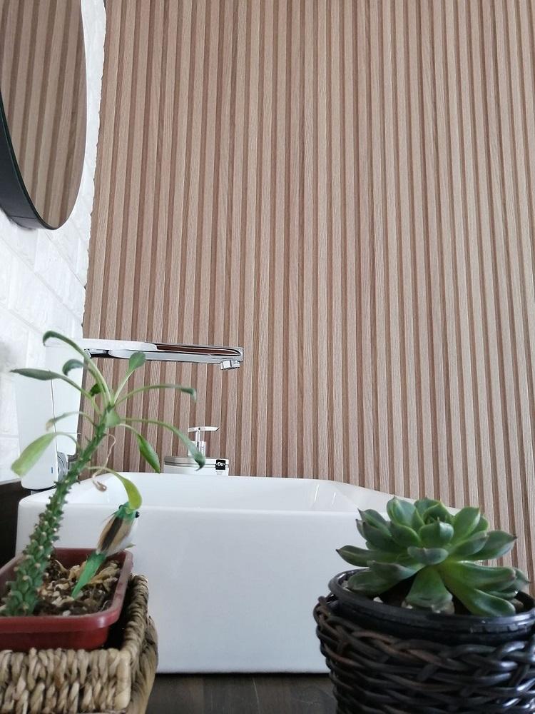 Painel Ripado Ecológico RENO Maranta - Novidade placa com 0,46m²