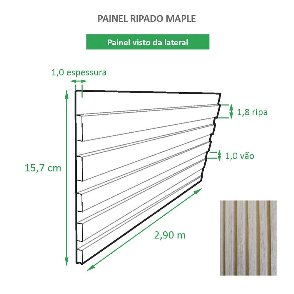 Painel Ripado Ecológico RENO Maple - Novidade placa com 0,46m²