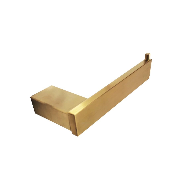 Papeleira inox dourada quadra