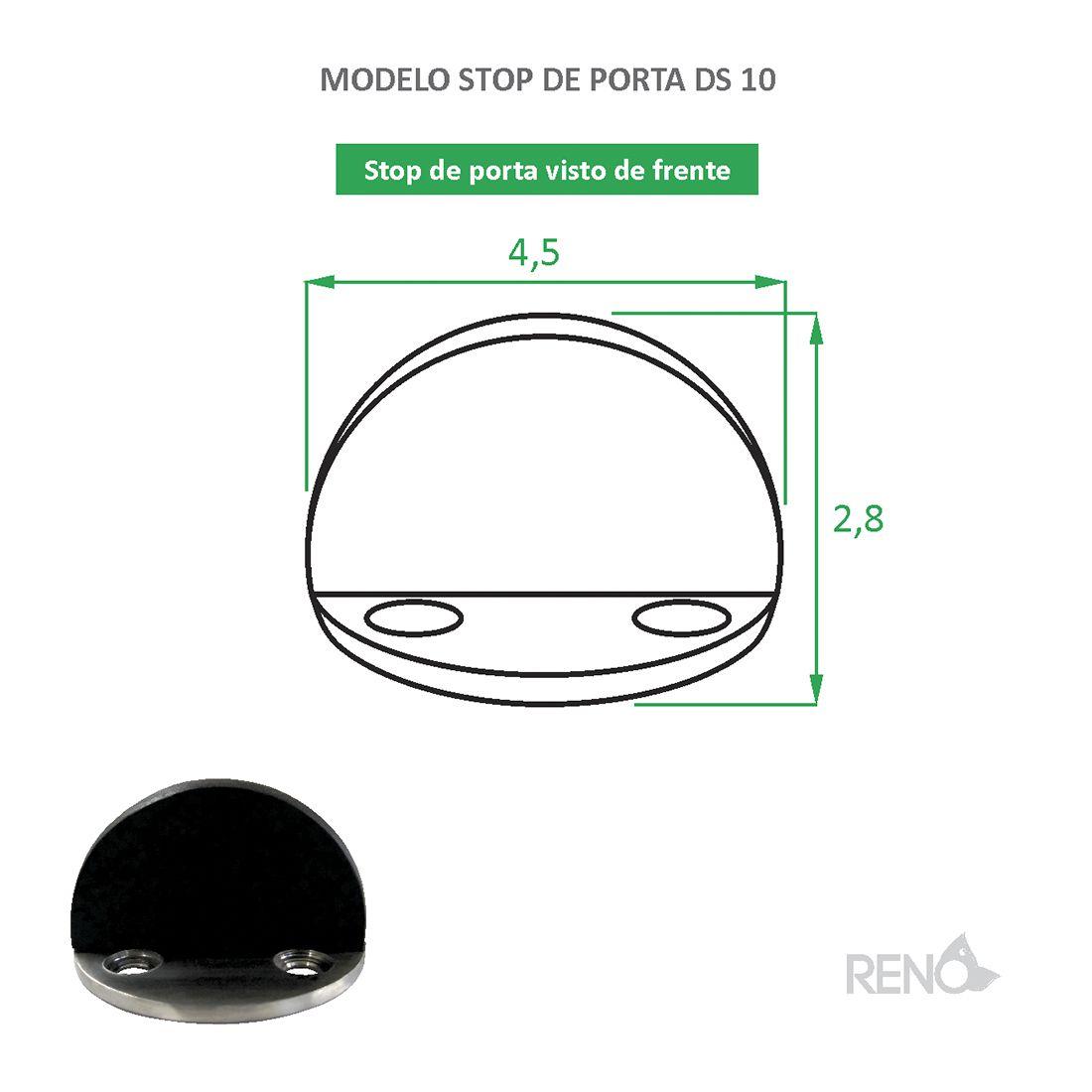 Parador de Porta Inox magnético DS 10