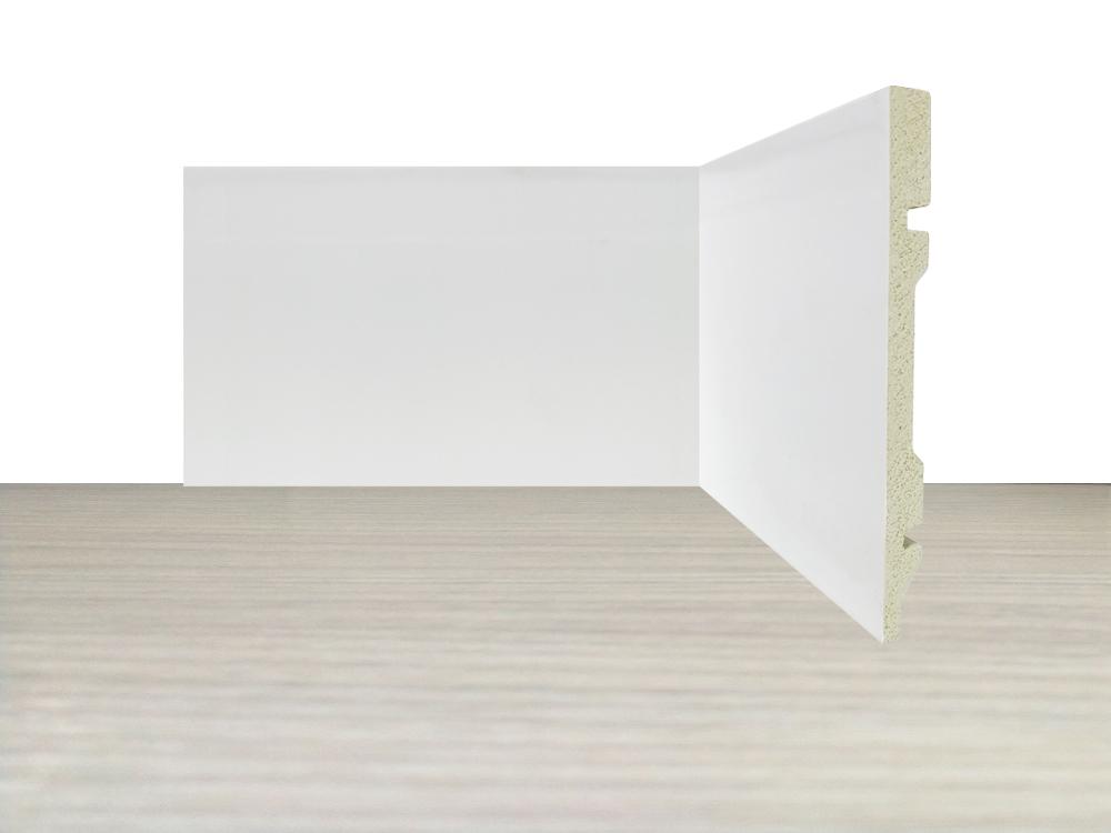 Rodapé de Poliestireno Liso 15 cm Barra de 2,4 m